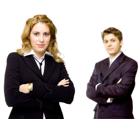 Young confident business couple photo