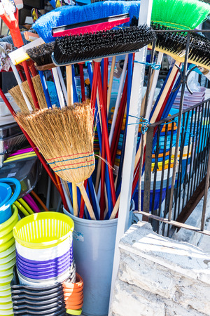 broom for house cleaning housework with water brush in 2014 Zdjęcie Seryjne