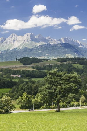 alpes: View of the Devoluy, France