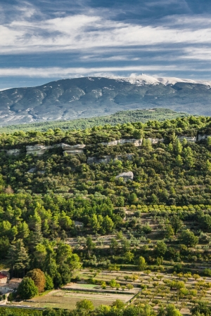 vaucluse: View of the Mount Ventoux, Vaucluse, France Stock Photo