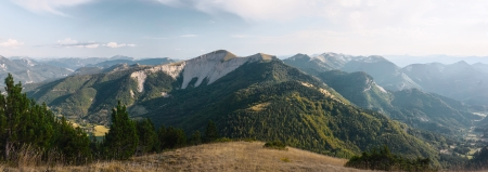 Panoramatic view of Hautes Alpes France