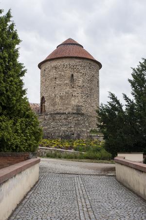 Rotunda, ST Catherine - Znojmo, rear view Stock Photo
