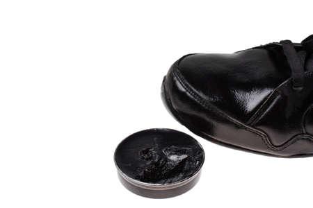 Clean shoes shoe polish paste  photo