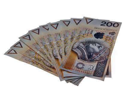 Polish money salary isolated photo