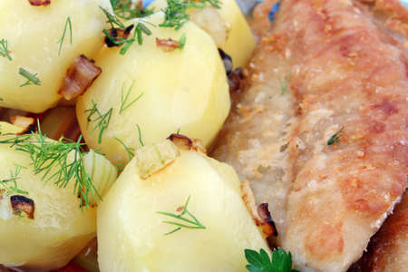 greaves: Dinner potatoes with fish