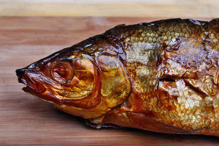 Fresh smoked fish head whitefish photo