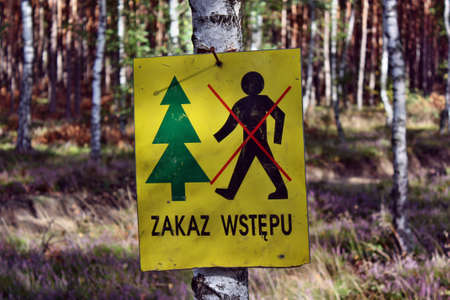 no access: No access in the forest