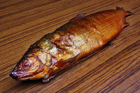 whitefish: Smoked fish whitefish on the table