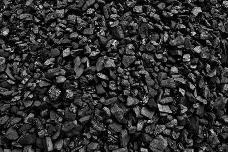 COAL MINER: Coal mineral black cube stone background Stock Photo