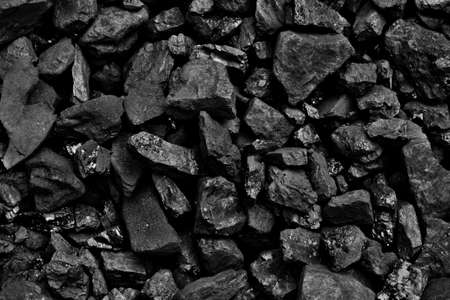 Coal black  background mineral stone photo