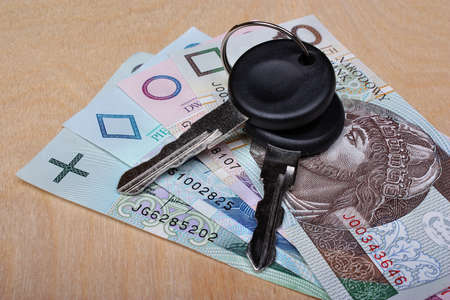 formalities: Car keys and money on the table
