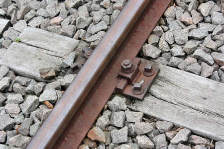 Close up view of railway tracks  photo