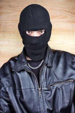 Masked thief in balaclava bandit gangster Stock Photo - 26023031
