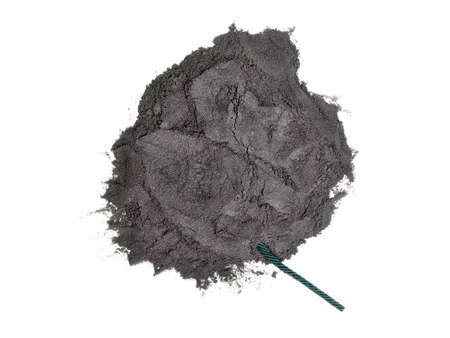 gunpowder: Gunpowder and green fuse isolated Stock Photo