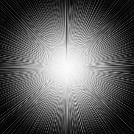 blinding: Rays black and white abstract background