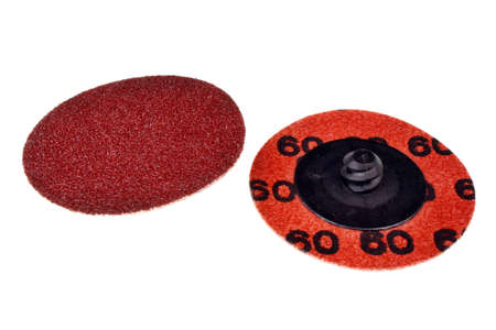 Abrasive sanding discs for grinding and cleaning of wood, paint, metal and other material photo