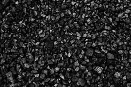Coal mineral black cube stone background Stock Photo