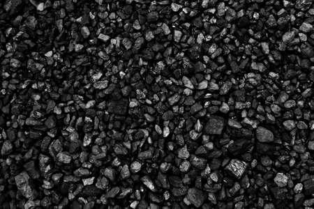 Coal mineral black cube stone background Standard-Bild