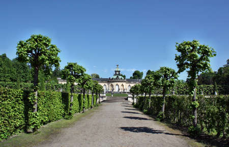 frederick street: Potsdam, Germany - May 19, 2013: Palace of Bildergalerie. Sanssouci is the most famous palace of Frederick the Great