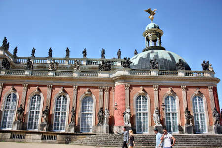 neues: Potsdam, Germany - May 19, 2013: Neues Palais in Sanssouci palace