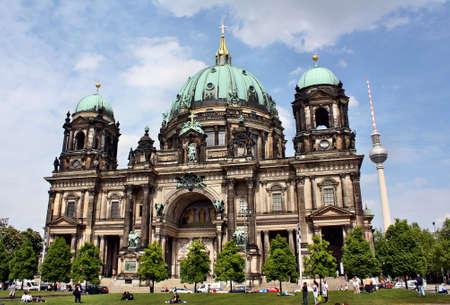 dom: Berlin, Allemagne - 18 mai 2015: la cath�drale de Berlin (Berliner Dom)