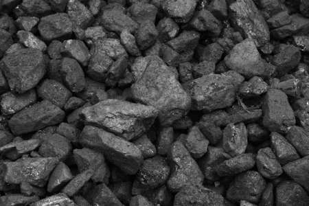 tiled stove: Coal mine deposit mineral black cube stone background Stock Photo