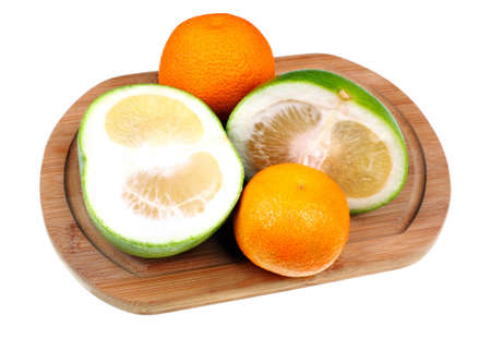 sectioned: Fresh healthy fruit exotic on a white background