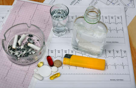 hypotension: Cigarettes in the ashtray, vodka on the table medical research