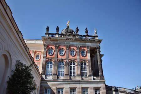 palais: Potsdam, Germany - May 19, 2013: Neues Palais in Sanssouci palace