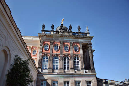 Potsdam, Germany - May 19, 2013: Neues Palais in Sanssouci palace