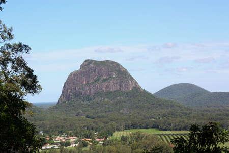 アンガンをマウントからの眺め、ガラス家山、サンシャインコースト、クイーンズランド州、オーストラリアで Tibrogargan。