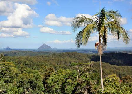 View on Glass House Mountains, Sunshine Coast, Queensland, Australia. Stock Photo