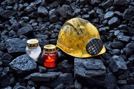 Vigil light, candle on the mine