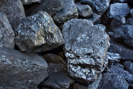 Pile of coal from mining pit