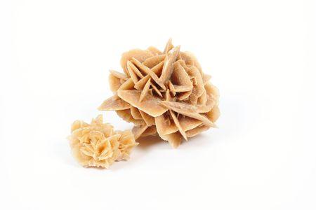 crystallize: Desert Rose - macro on white background Stock Photo