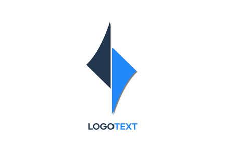 Abstract Logo design for web, branding, symbol, and presentation, editable free editing Ilustração