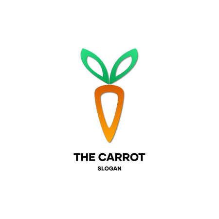 Simple carrot design, for agriculture, plantations and vegetables as well as organic materials such as fertilizer for carrots and vegetables