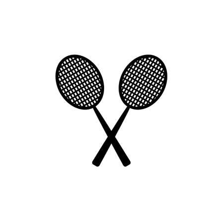 Badminton or tennis racket icon. Racket vector symbol, tennis or badminton sport icon. vector