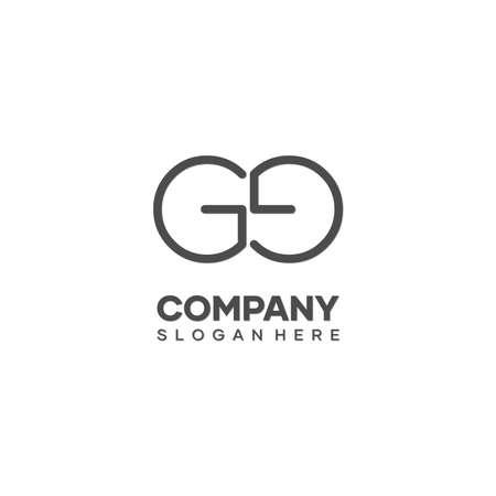 GE initials letter logo design, identity G and E logo, minimal letter vector logo. Logó