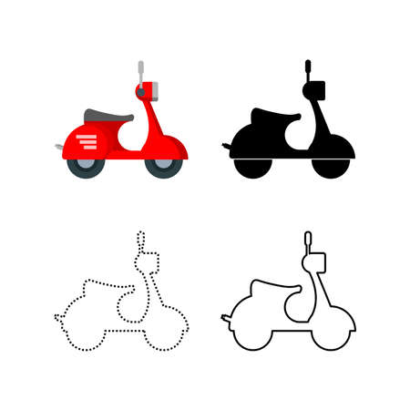 Scooter icon, motorbike vehicle icon. vector illustration Ilustracja