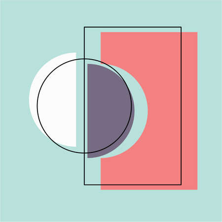 Abstract creative minimalist square digital painted illustrations for wall decoration, banner background, postcard or brochure design. Vector EPS10