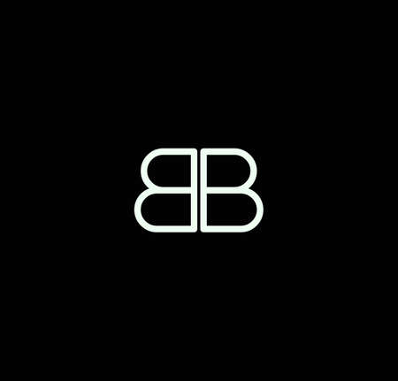 Letter BB alphabet design vector. The initials of the letter B and B design in a minimal style are suitable for an abbreviated name .