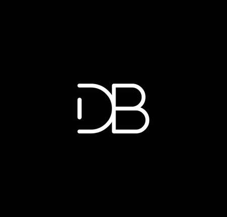 Letter DB alphabet design vector. The initials of the letter D and B design in a minimal style are suitable for an abbreviated name .