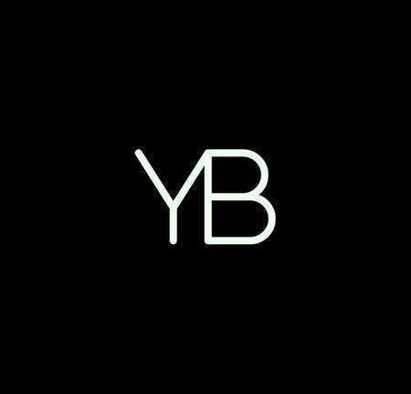 Letter YB alphabet design vector. The initials of the letter Y and B design in a minimal style are suitable for an abbreviated name . Illusztráció