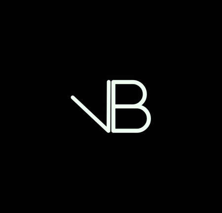 Letter VB alphabet design vector. The initials of the letter V and B design in a minimal style are suitable for an abbreviated name .