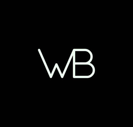 Letter WB alphabet design vector. The initials of the letter W and B design in a minimal style are suitable for an abbreviated name .