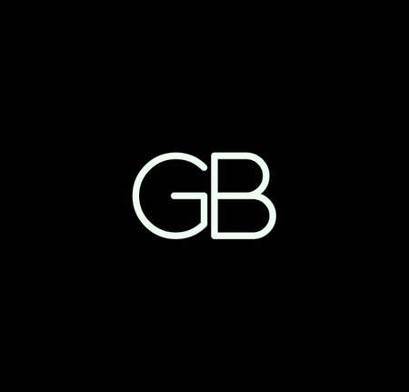 Letter GB alphabet design vector. The initials of the letter G and B design in a minimal style are suitable for an abbreviated name .