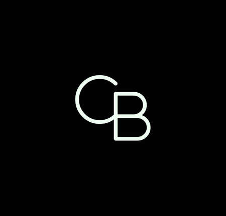 Letter CB alphabet design vector. The initials of the letter C and B design in a minimal style are suitable for an abbreviated name .