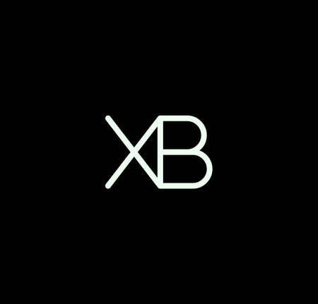 Letter XB alphabet design vector. The initials of the letter X and B design in a minimal style are suitable for an abbreviated name .