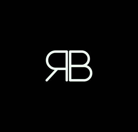 Letter RB alphabet design vector. The initials of the letter R and B design in a minimal style are suitable for an abbreviated name .